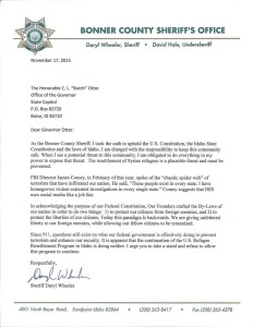 sheriff wheeler letter
