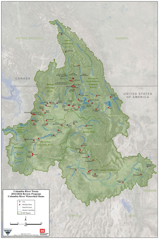 The Death Of Idaho Columbia River Treaty Redoubt News - Us map columbia river