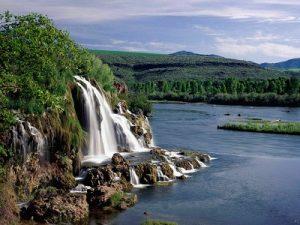 Fall Creek Falls And Snake River Idaho